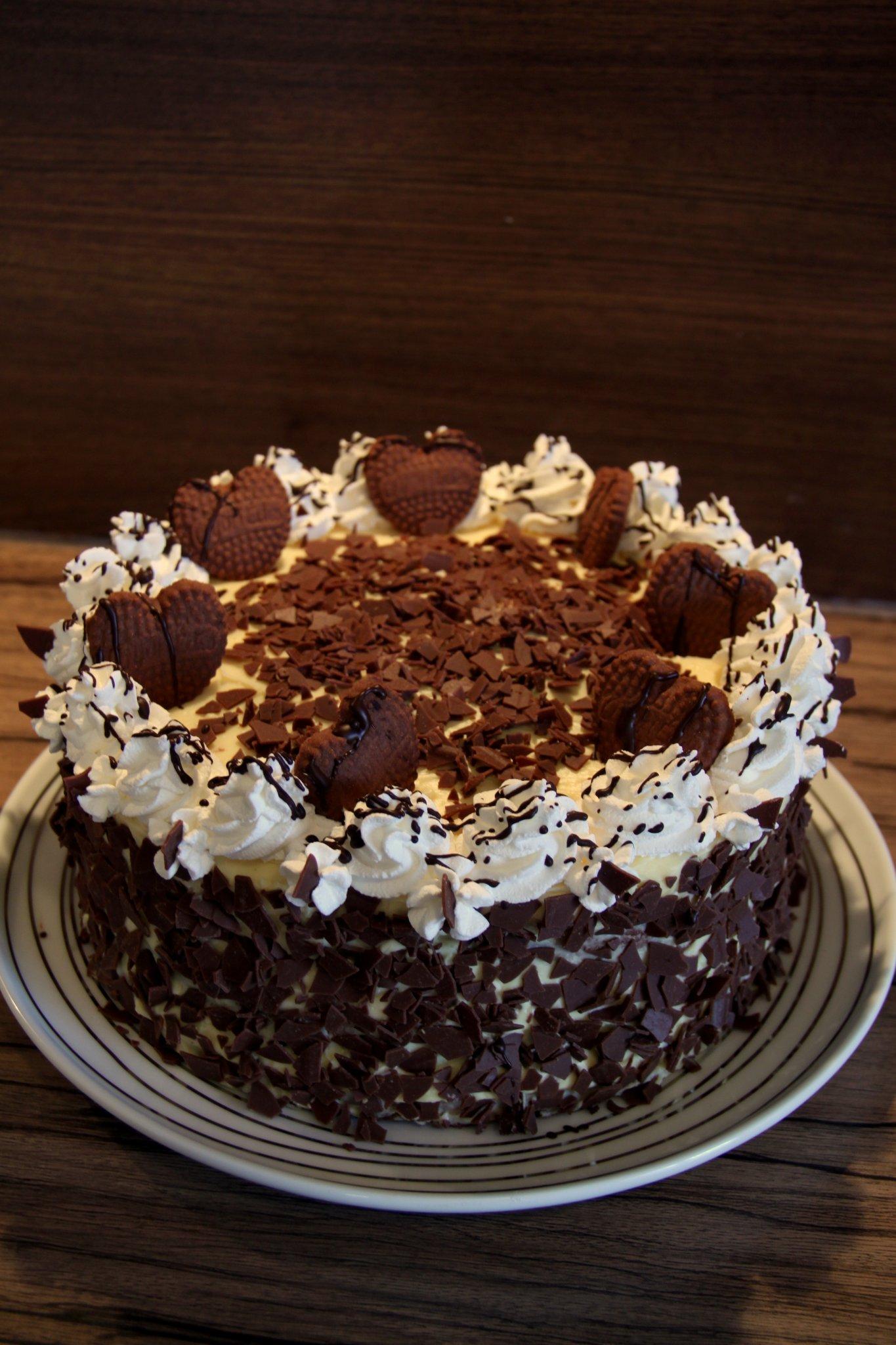 Csokis kekszes torta | Hab a tortán